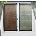 Летние рулонные солнцезащитные шторы Вертикальная занавеска рулон простая паста настенный полый дышащий затемненные шторы оттенки окна