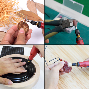 Image 5 - NEWACALOX Grinding Machine USB 5V DC 10W Mini Wireless Variable Speed Rotary Tools Kit Drill Engraver Pen for Milling Polishing