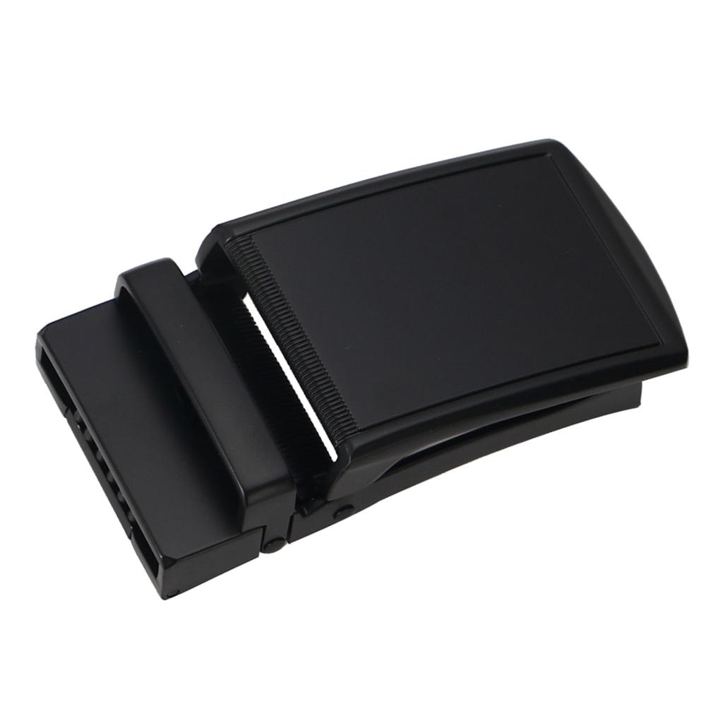 Fashion Alloy Automatic Buckle Ratchet Black Belt Buckle 40mm Width For Business Men Cool Buckle Ratchet Men Apparel Accessories