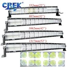 CREK 22 32 42 52 дюймов изогнутый СВЕТОДИОДНЫЙ светильник для работы 4x4 4WD SUV ATV Offroad светодиодный светильник для внедорожников 4x4