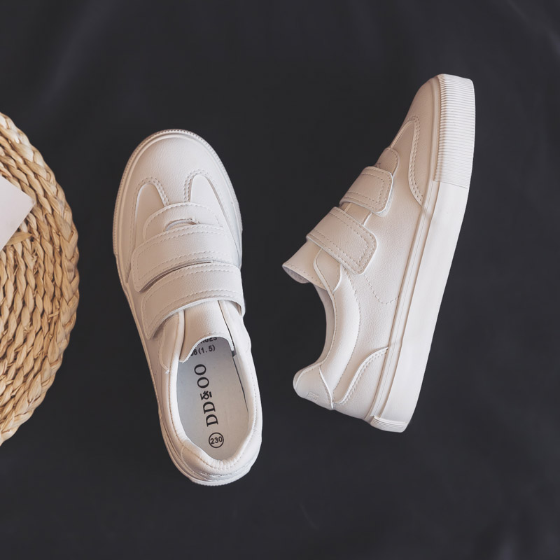 Women Sneakers 2020 Spring New Fashion Leather Shoes Women Solid Color Flats Female Casual Platform White Shoes Women's Sneaker