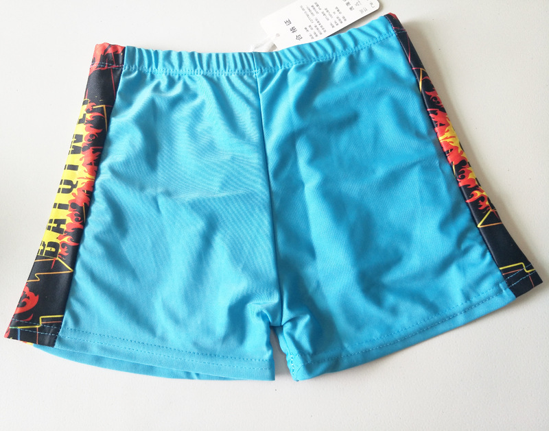 2019 New Style Swimming Trunks Big Boy Children Boxer Printed Joint Beach Shorts Men Four Corners Swimming Trunks Wholesale