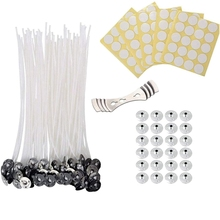 Stickers-Set Candle Wick Centering-Device with 50 Metal Tabs for 120pcs 8inch