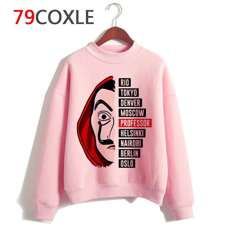 Money Heist Women Hoodie Harajuku La Casa De Papel House Of Paper Sweatshirt Funny Clothes  Casual Hood Oversized