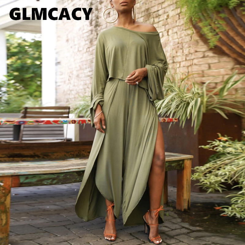 Women Elegant 2 Pieces Outfits Autumn Long Sleeve Shirt Top And Wide Leg Pants Sexy Chic Streetwear Night Club Party Sets