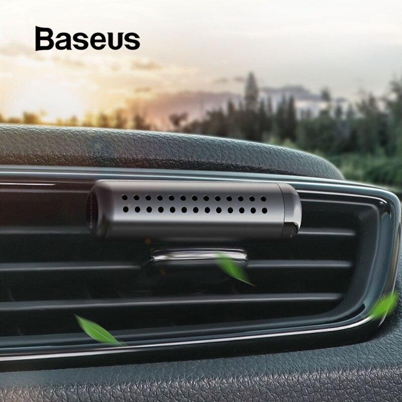 Baseus ambientador de aire para coche Clip de Perfume de Salida Automática difusor de olor aire acondicionado Perfume sólido en los accesorios del coche