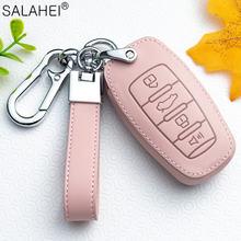 Кожаный чехол для автомобильного ключа ключей с защитой кольца