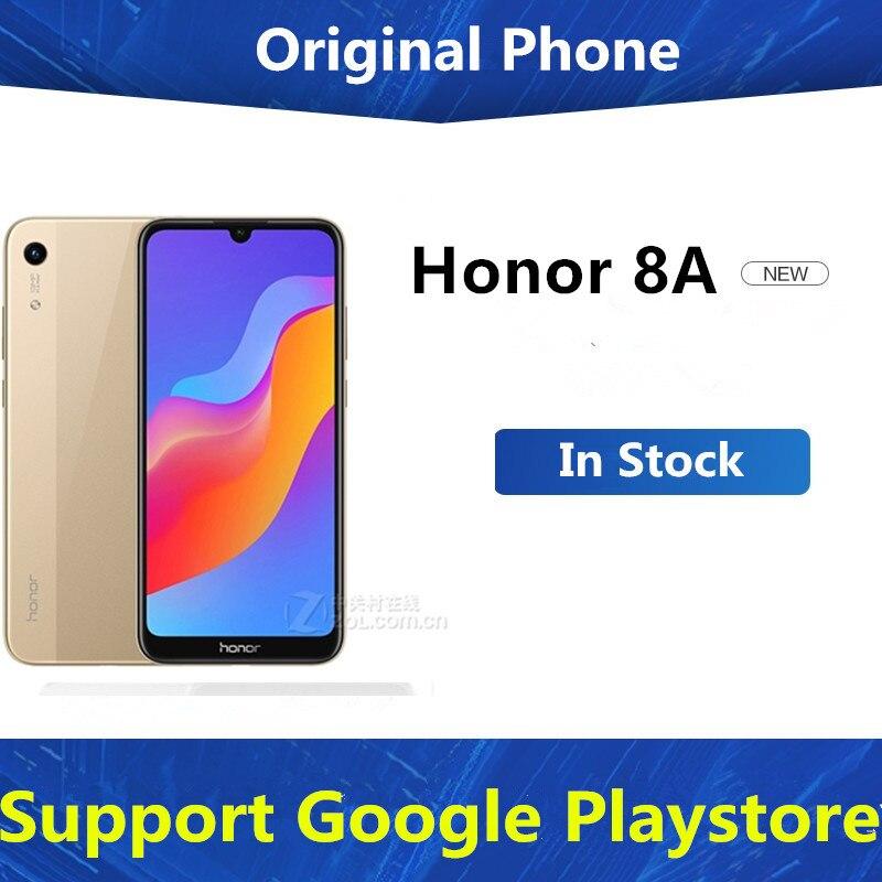 В наличии Honor 8A 4 аппарат не привязан к оператору сотовой связи Android телефон 6,09 дюйма, разрешение Full Экран Face ID 13.0MP Dual Sim MTK6765 Octa Core Android 8,0 3 Гб оп...