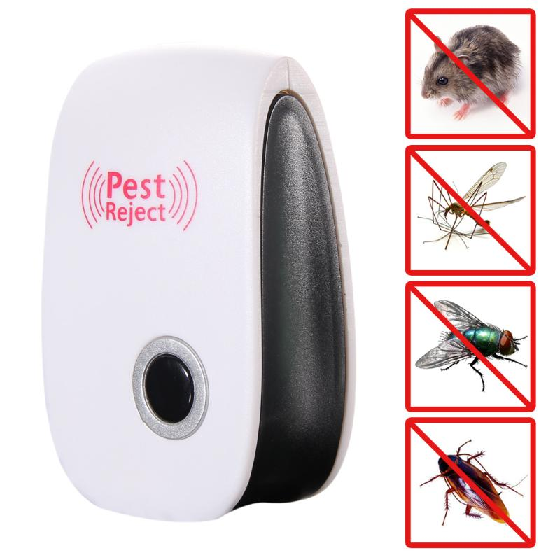 Electronic Ultrasonic Anti Pest Bug Mosquito Cockroach Mouse Killer Ultra-low Power Consumption; No Impact On Electrical