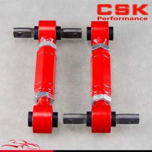 Tylne AD J.C/ramię pasuje do HONDA CIVIC 92- 00 INTEGRA EG tylne regulowane ramiona CAMBER zestaw czerwony
