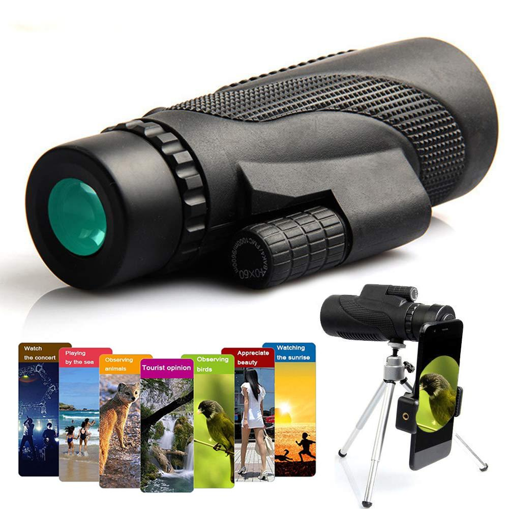 Tragbare 40x60 Monocular Teleskop Wasserdichte Reise Smartphone Spektiv Für anschließen handy mit telefon halter