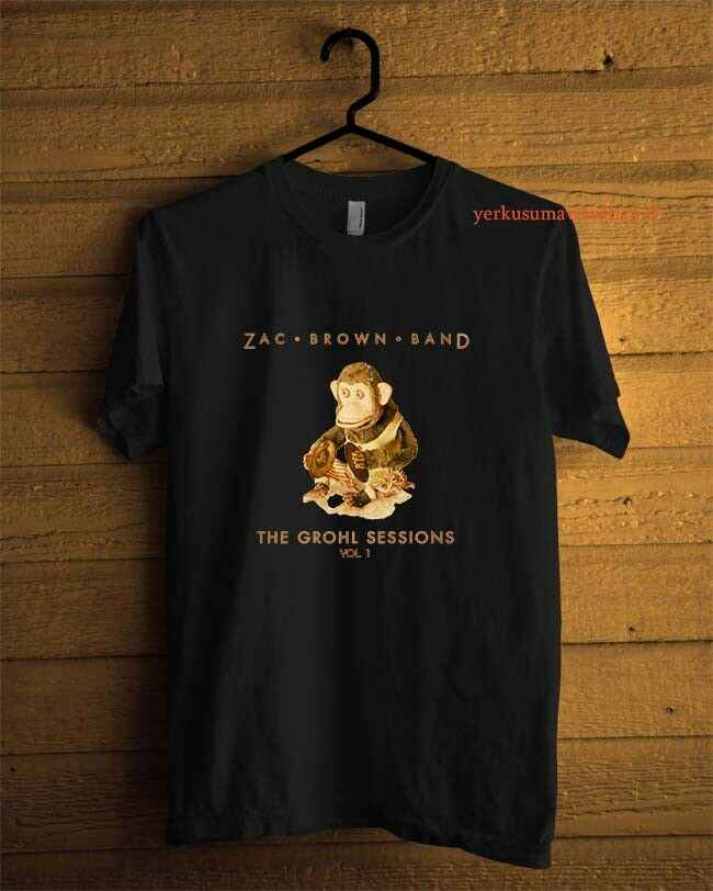 New Zac Brown Band The Grohl Sessions Custom  T-shirt Black Men Size S-2XL 2019 Short Sleeve O-Neck