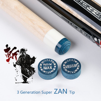 Japanese Max ZAN 14mm Tip Professional 8&9 Layers Of Pigskin High Quality Pool Cue Tip For KAMUI MEZZ&EXC Durable Accessory