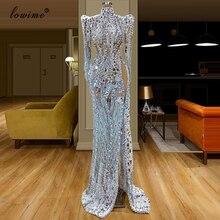Дубай Роскошные мусульманские платья знаменитостей 2020 длинное формальное арабское вечернее платье Русалка Вечерние платья турецкие Largos Vestidos