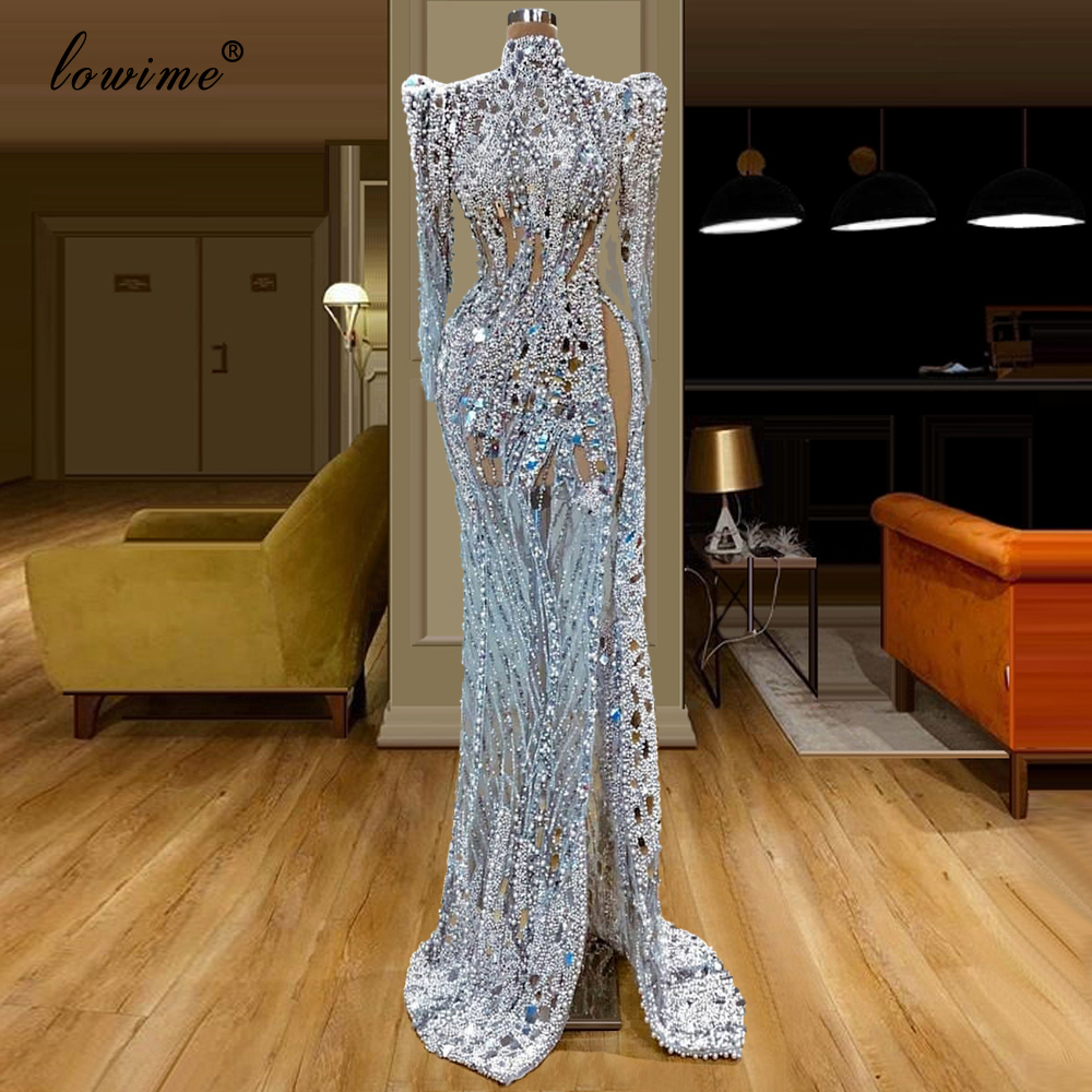 Dubai Luxury Muslim Celebrity Dresses 2020 Long Formal Evening Dress Arabic Abiye Mermaid Party Gowns Turkish Largos Vestidos