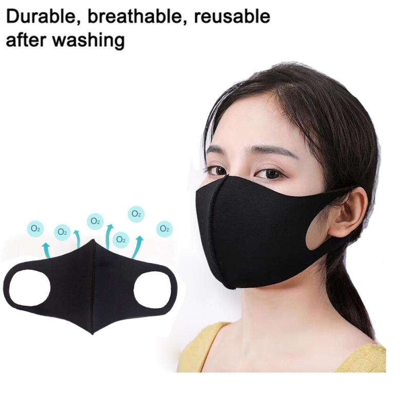 FACE MASKS MOUTH MASK ANTI-DUST WASHABLE CYCLING REUSABLE UNISEX 1/2/5/10/20 PCS Protective Mask READY STOCK FAST SHIPPING