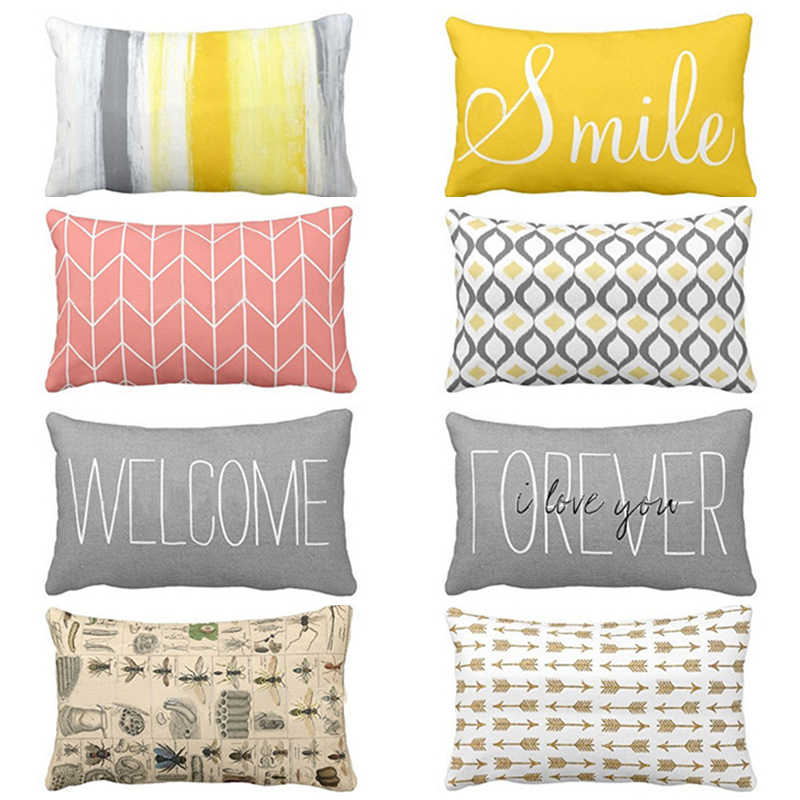 pillow cover decorative cushions rectangular polyester cushion covers home decor throw pillows bedroom pillowcase