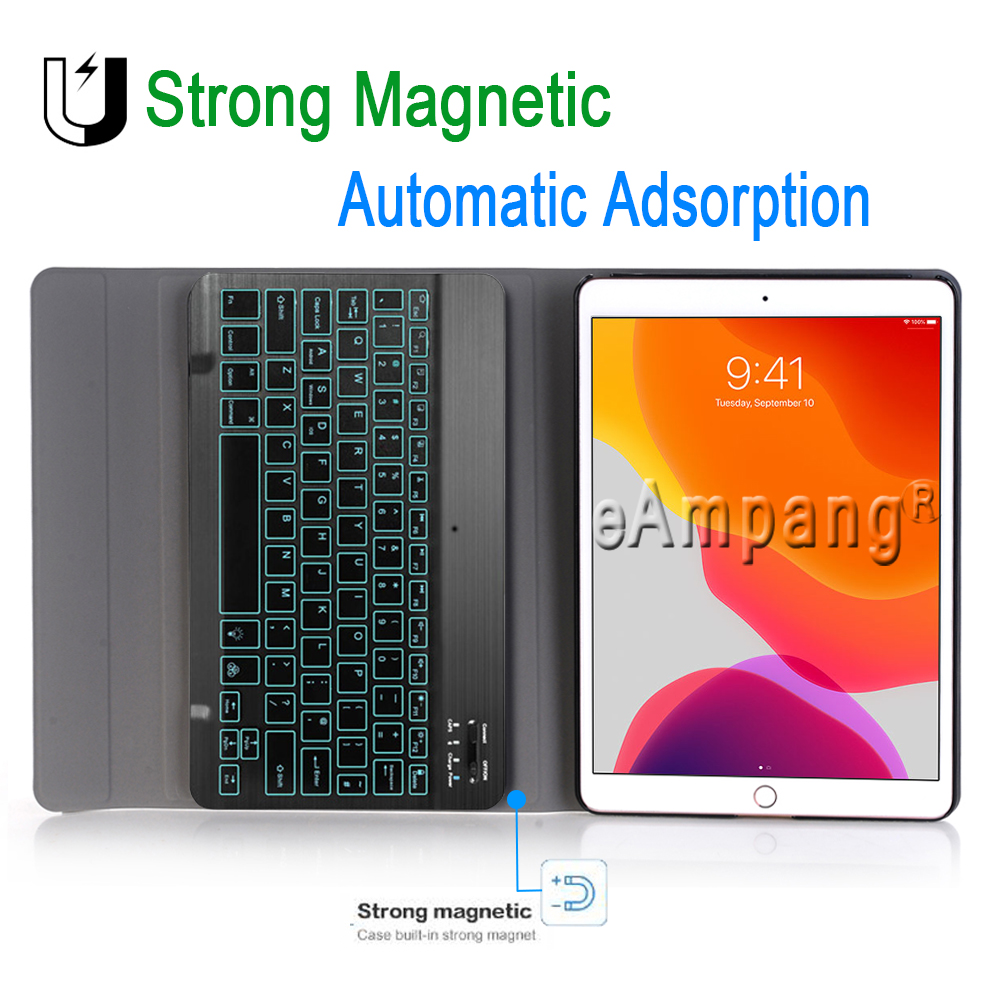 Apple Keyboard 10.2 iPad iPad Bluetooth Colors Backlit 7 Case for Keyboard Case 3.0 for