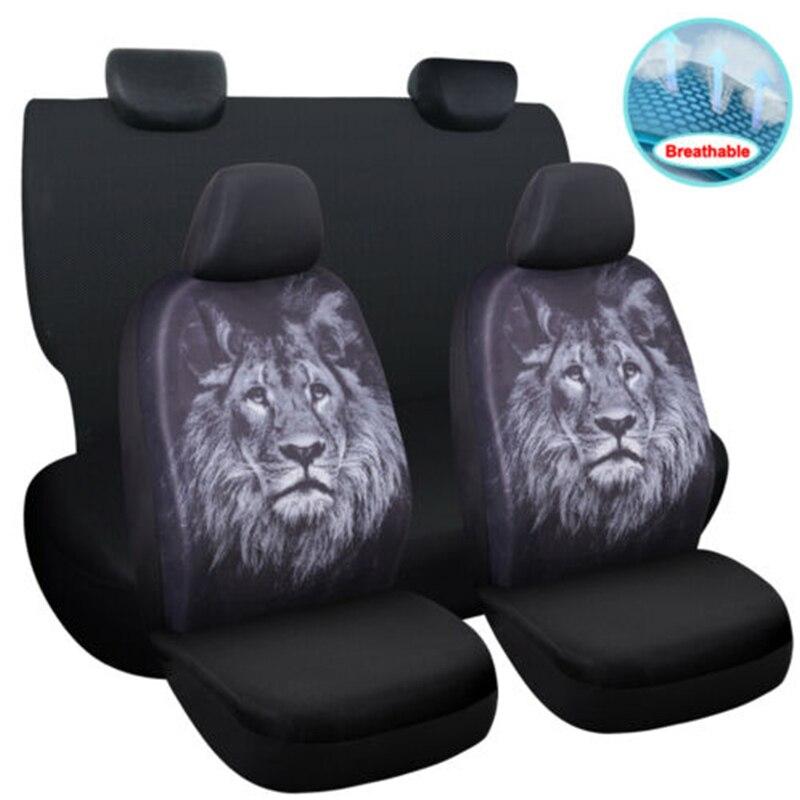 Housse de siège de voiture 8 pièces imprimé Animal ensemble de protection de siège de véhicule accessoires Auto pour Geely Atlas Boyue Emgrand X7 Geeli Emgrand Ec7