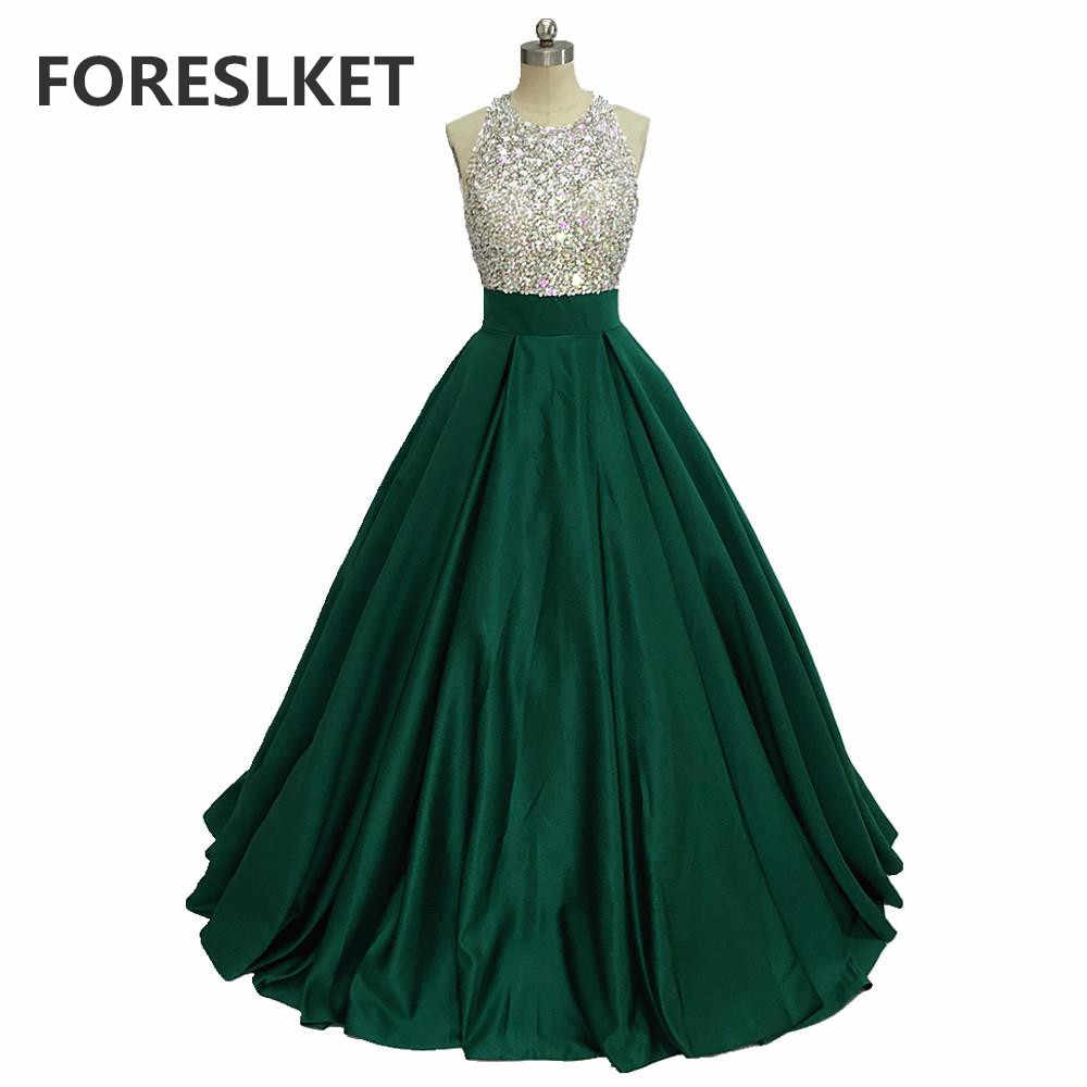 ballkleid grün satin prom kleider backless 2020 robe de
