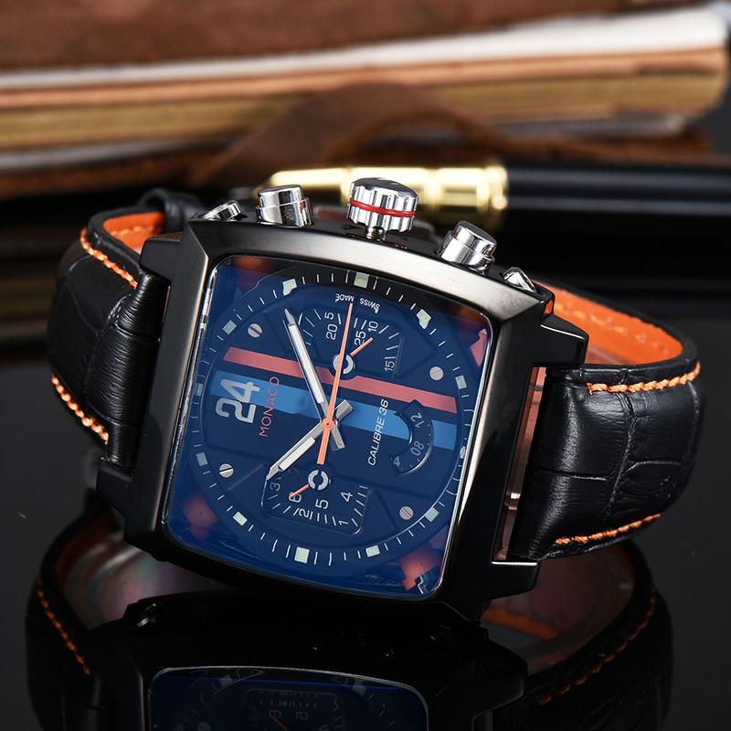 Top Brand Luxury Watch Men Tonneau Automatic Tourbillon Watch Joker Stainless Steel Business Sport Mechanical Wristwatch