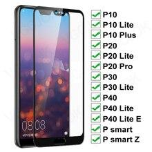 Защитное стекло 11D для Huawei P20 Pro P10 Lite Plus, Защитное стекло для экрана P30 P40 Lite E P Smart 2019, пленка из закаленного стекла