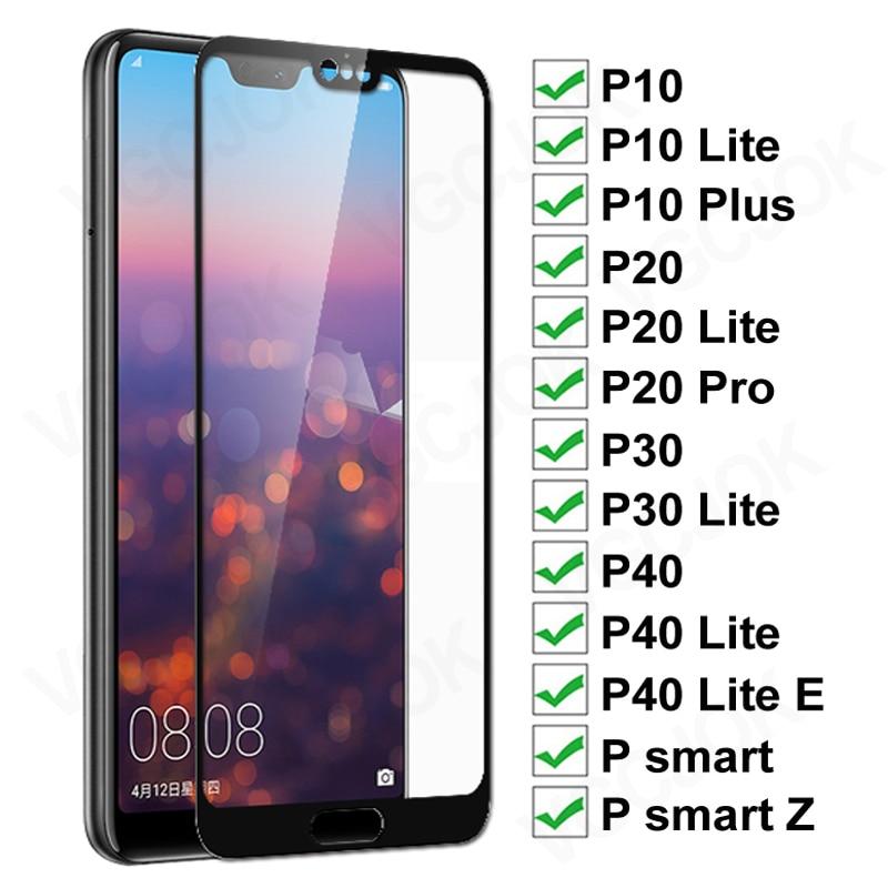 11d vidro protetor para huawei p20 pro p10 lite plus protetor de tela de vidro p30 p40 lite e p inteligente 2019 filme de vidro temperado