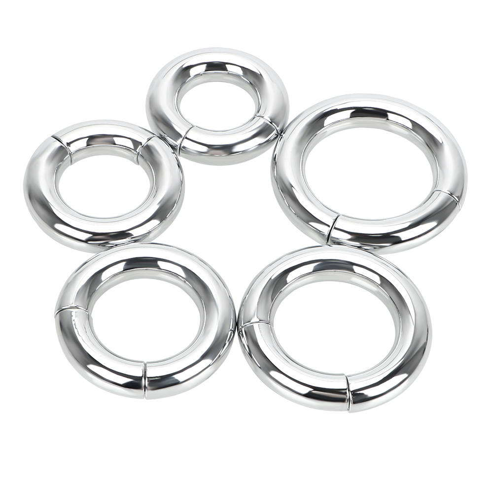 Sex Toys For Men 5 Size Heavy Duty Male Magnetic Ball  Delay Ejaculation Scrotum Stretcher  Metal Penis Cock Lock Ring