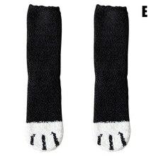 Женские плюшевые флисовые Носки, с рисунком кота, с когтями, дизайнерские, утолщенные, Осень-зима, теплые носки