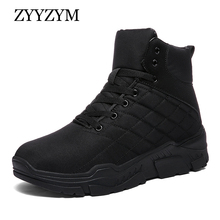 ZYYZYM Men Winter Sneakers High Top Casual Shoes Plush Keep Warm Boots Fashion For Zapatos Hombre