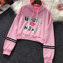 2019 New Stylish Navel Hoodies Sweatshirt Harajuku Women Ariana Grande