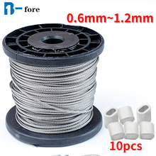 Wire-Rope Alambre-Cable Structur Fishing-Lifting-Cable 304-Stainless-Steel 7X7 Softer
