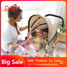 Rattle Toys For Baby Cute Puppy Bee Stroller Toy Rattles Mobile For Baby Trolley 0 12 Months Infant Bed Hanging Gift