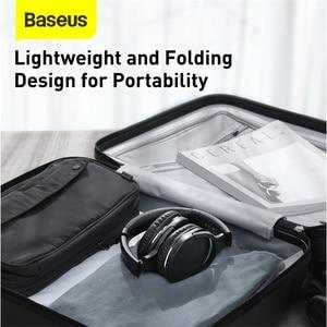Image 5 - Baseus D02 Pro Wireless Headphones Bluetooth Earphones Flexible Adjustable Sport Headset Ear Buds Head Phone Earbuds for iphone