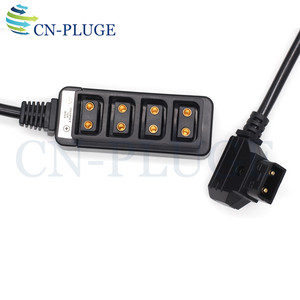 Image 4 - D Tap Male to 4 Port P Tap Female Camera power Supply Distributor DTAP fourway splitter spring lines