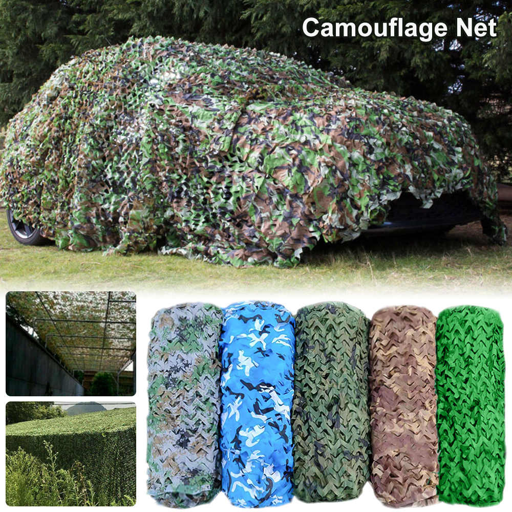 tienda de campa/ña decoraci/ón refuerzo para caza contra los rayos UV Cikonielf 1,5 x 5 m Red de camuflaje de gran tama/ño militar