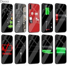Battery Drums Glass Case TPU For Huawei P30 P10 P20 P Smart Mate 10 20 Lite Pro Y6 Y9 Honor 7A 8X(China)