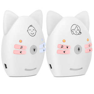 Digtal Audio Baby Monitor Portable Two Way Infant Monitor with Night LED Home Security Device Wireless Voice Baby Monitor
