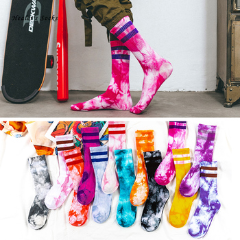 Hot Fashion Men And Women Socks Cotton Colorful Psychedelic Graffiti Tie Dyeing Funny Skateboard Cute Harajuku Hiphop Tube Socks