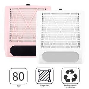 Image 2 - 80W nouvelle puissance forte ongles collecteur de poussière ongles ventilateur Art Salon daspiration dépoussiéreur Machine aspirateur ventilateur