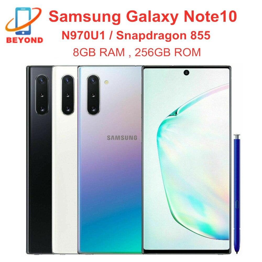 Samsung Galaxy Note10 N970U1 Note 10 N970U 256 ГБ ROM 8 Гб RAM сотовый телефон Octa Core 6,3