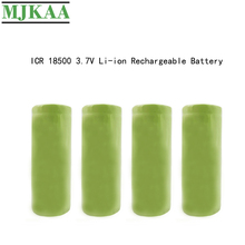 MJKAA 18500 2000mAh 3.7V Rechargeable Battery Recarregavel Lithium Li-ion Batteies For LED Flashlight NEW 2 4pcs unitek 3 7v 18500 battery 1800mah rechargeable li ion lithium ion cell with welding tabs pins for led torch flashlight