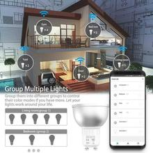 GU10 Smart Bulb App Remote Control RGB 5W WiFi LED Light With Home Remote Control By Smartp