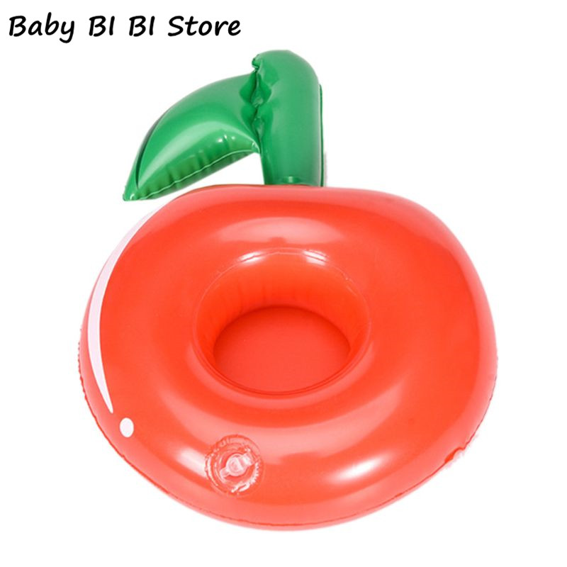 Cute Drink Bottle Seat Cherry Cup Holder Kids Water Beach Toy Floating Inflatable Coasters