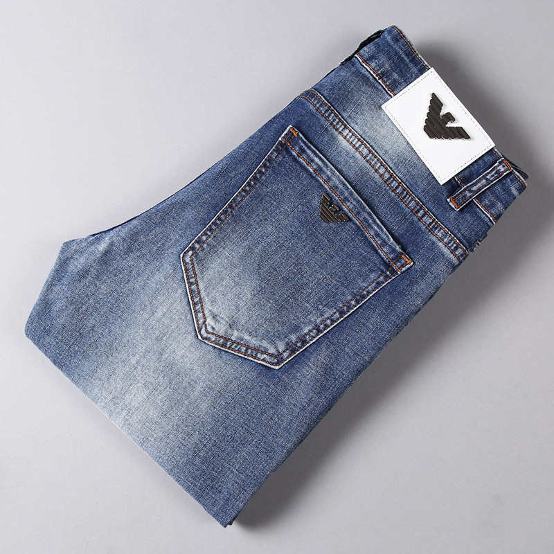 AJ Autumn And Winter MEN'S Jeans Korean-style Trend Elasticity Slim Fit Pants Elasticity Brand MEN'S Trousers