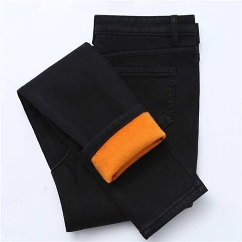 2019 Band New Winter Thick Fleece Jeans For Women Stretch Warm Skinny Denim Velvet Pencil Jeans Stretch Female Jean Trousers