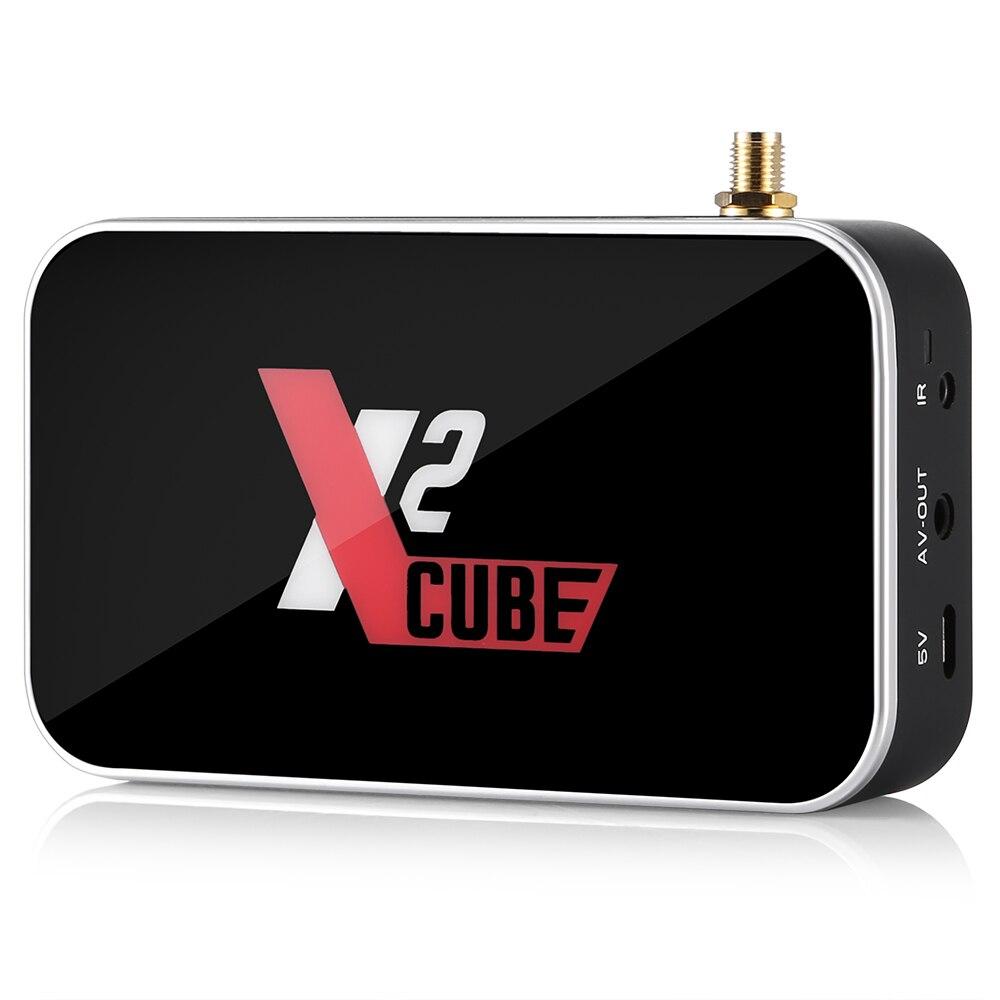 X2 CUBE Smart Android 9.0 TV Box Amlogic S905X2 2GB DDR4 16GB ROM décodeur 2.4G WiFi 4K HD lecteur multimédia