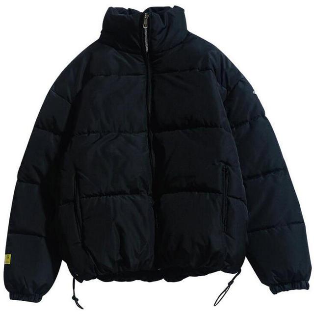 2021 Winter Coat Men's Warm Parkas Streetwear Cotton Coats Slim Male Jackets Solid Windproof Padded Coat Mens Clothing 3