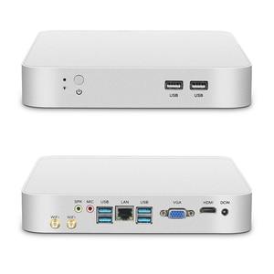 Image 4 - Mini PC Intel Celeron J1900 Quad Core HDMI VGA 6 * WiFi USB LAN Gigabit DDR3L mSATA HTPC Nettop Windows 10 Linux