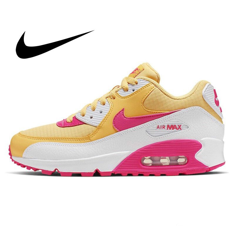 Original Authentic NIKE AIR MAX 90 ESSENTIAL Women's Running Shoes Comfortable Outdoor Sneakers New Color Matching 325213-702